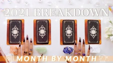 ????????*DETAILED AF* 2021 Month By Month Prediction????????(Pick A Card)✨Tarot Reading✨